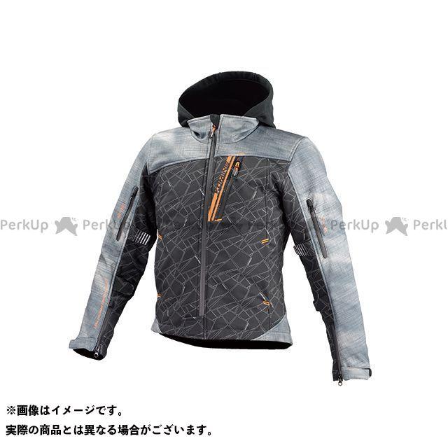 KOMINE ジャケット JK-590 プロテクトソフトシェルウインターパーカ(スモーク/ブラック) サイズ:XL コミネ