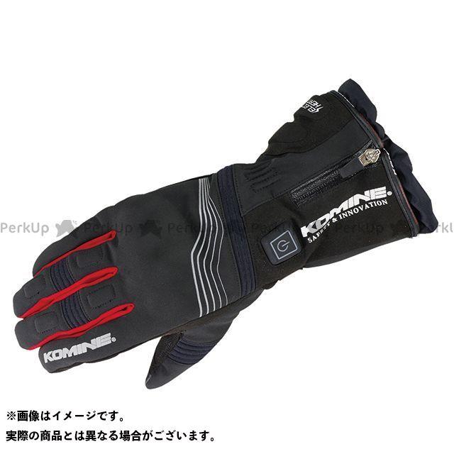 KOMINE 電熱ウェア・防寒用品 EK-201 プロテクトエレクトリックグローブ12V(ブラック/レッド) サイズ:L コミネ