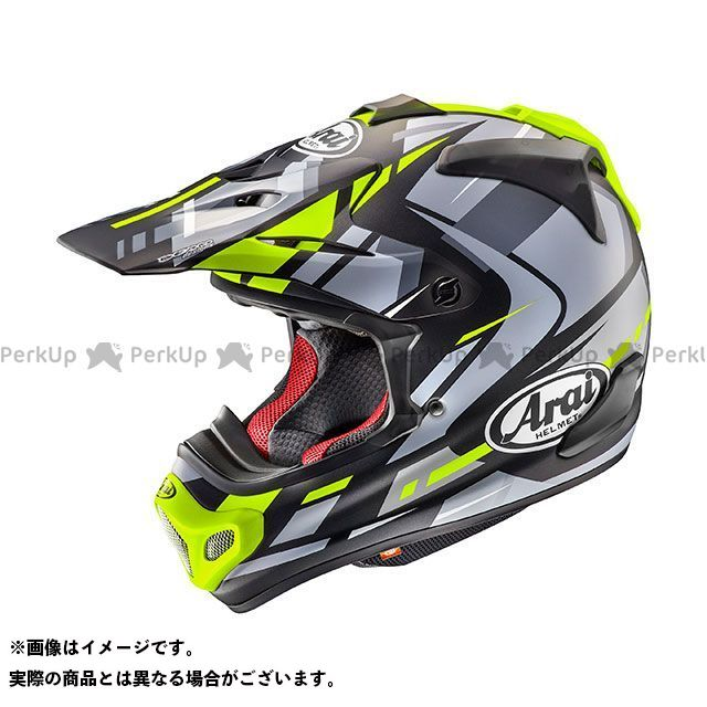 送料無料 アライ ヘルメット Arai オフロードヘルメット V-CROSS 4 BOGLE(V-クロス4・ボーグル) イエロー 55-56cm