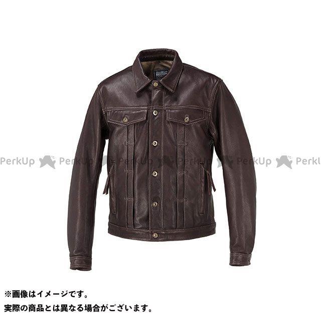 カドヤ ジャケット K'S LEATHER No.1182 DT-LEATHER JAC(ブラウン) サイズ:3L KADOYA