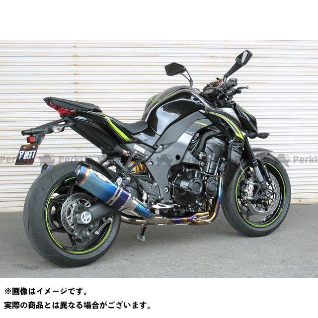 ビートジャパン Z1000 マフラー本体 NASSERT Evolution Type II T-2 フルエキゾーストマフラー クリアチタン BEET