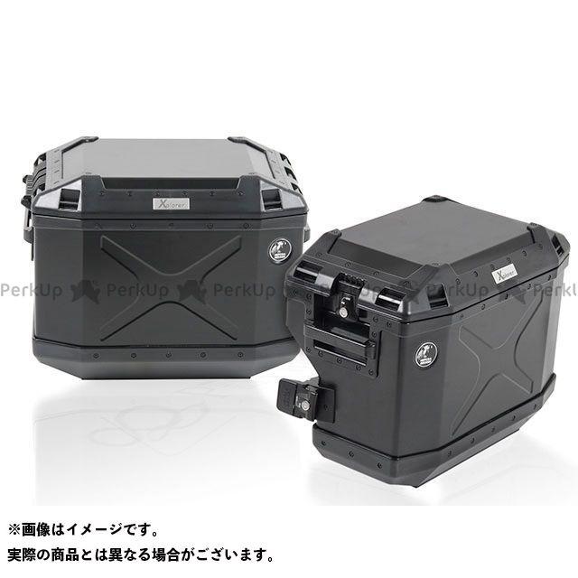 HEPCO&BECKER R1200GS キャリア・サポート サイドケースホルダー+サイドケース Xplorer(Cutout)セット ブラック ヘプコアンドベッカー