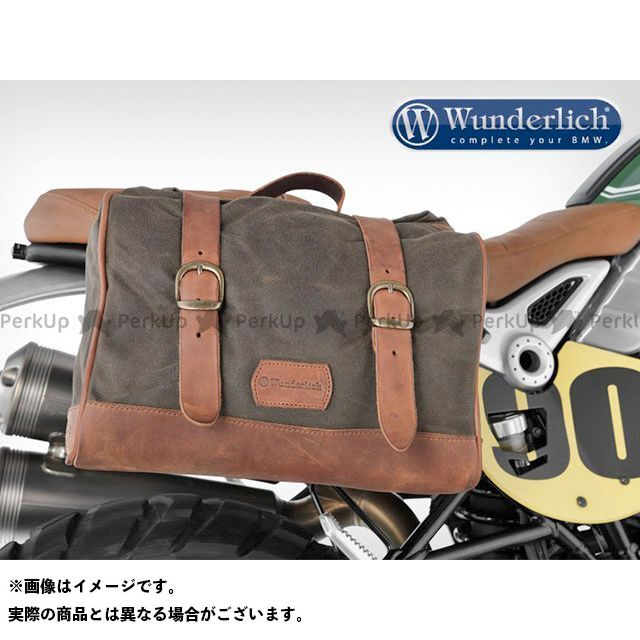 Wunderlich ツーリング用バッグ サイドバック「レトロ」 カラー:カーキ ワンダーリッヒ