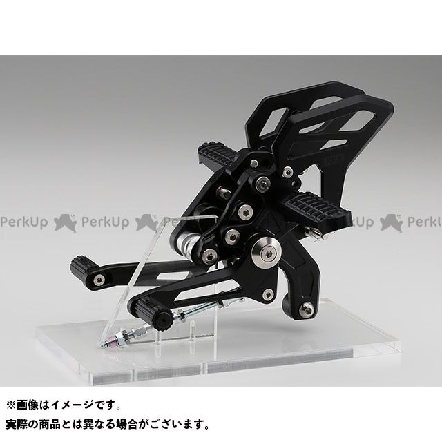 【特価品】AELLA R1200R R1200RS バックステップ関連パーツ ライディングステップキット(固定タイプ) BMW R1200R/RS カラー:ブラック アエラ