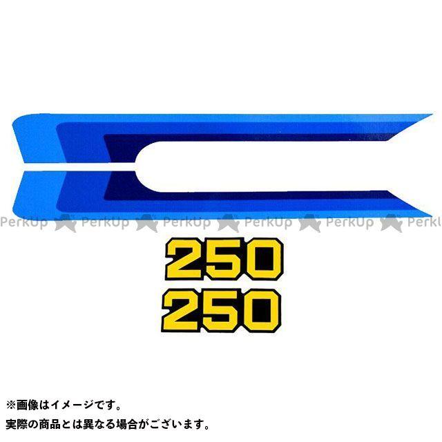 VINTAGE SUZUKI RM250 ドレスアップ・カバー 1980 RM250 サイドカバーデカールセット(4pcs) ビンテージスズキ