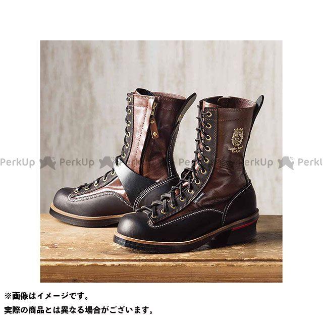 カドヤ ライディングブーツ Leather Royal Kadoya No.4320 RIDE LOGGER(ブラウン×ブラック) サイズ:26.5cm KADOYA