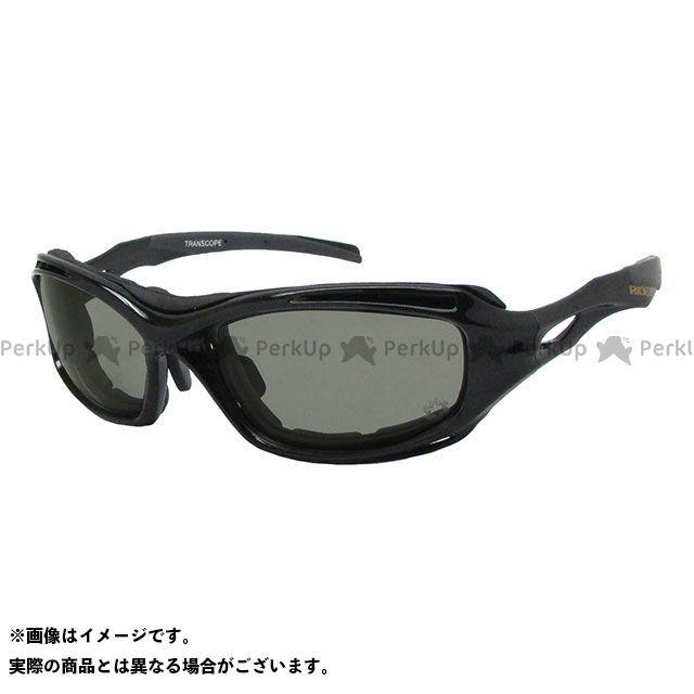 送料無料 ライズ RIDEZ サングラス TRANSCOPE(メタリックブラック/スモーク調光)