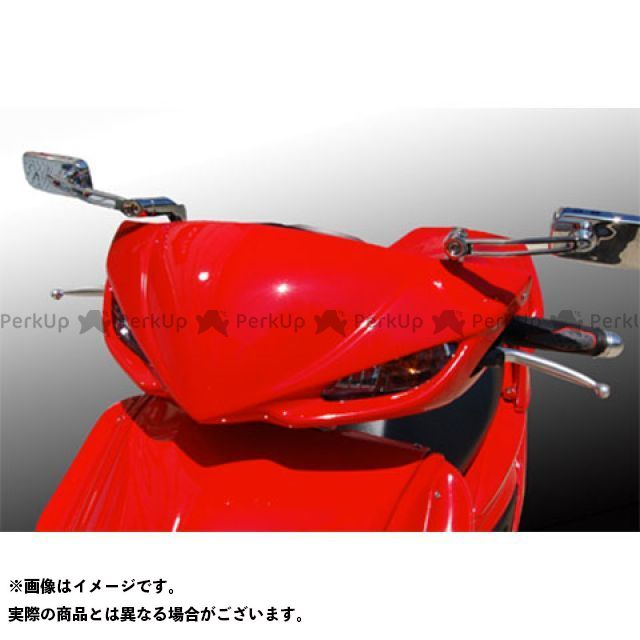 BLESS CREATION シグナスX カウル・エアロ レーシングアッパーカウル(FRP 一般色塗装品) カラー:ホワイトメタリック1 ブレスクリエイション