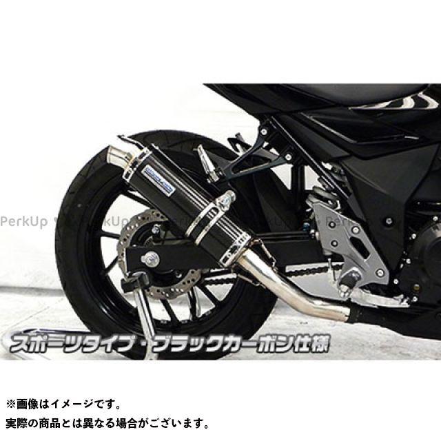 【エントリーで最大P21倍】WirusWin GSX250R マフラー本体 GSX250R用 スリップオンマフラー スポーツタイプ サイレンサー:ブラックカーボン仕様 ウイルズウィン