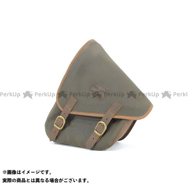 LONGRIDE ツーリング用バッグ スイングアームバッグ ワックスコットン SOFTAIL(カーキ) ロングライド