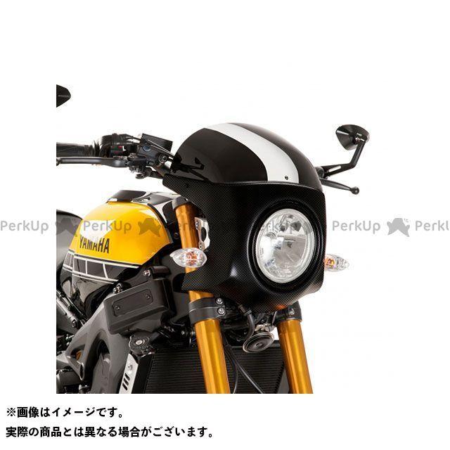 Puig XSR900 カウル・エアロ セミフェアリング レトロ 本体:カーボンプリント スクリーン:ブラック プーチ