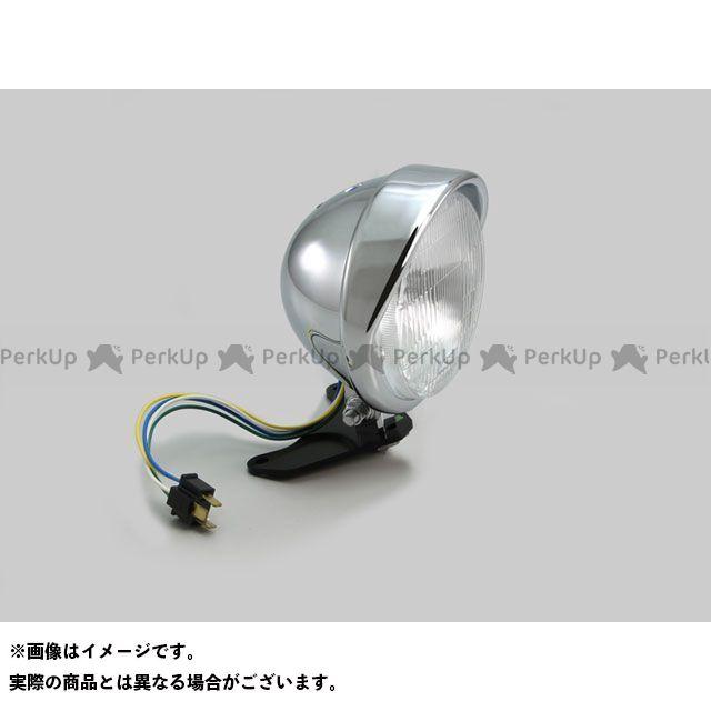 【エントリーで最大P21倍】HURRICANE レブル250 レブル500 ヘッドライト・バルブ 5.5ベーツバイザータイプ ヘッドライトキット(クロームメッキ) ハリケーン