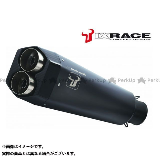 アイエックスレース CB500F CB500X CBR500R マフラー本体 HONDA CBR 500 R / CB 500 X / CB 500 F 2016 M9B ツインストリート スリップオンマフラー(ブラック) IXRACE