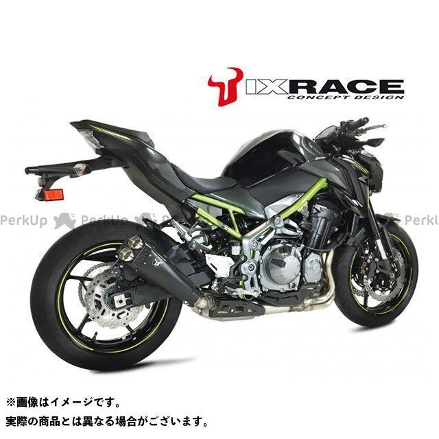 アイエックスレース Z900 マフラー本体 KAWASAKI Z900 2017 M9B ツインストリート スリップオンマフラー(ブラック)  IXRACE