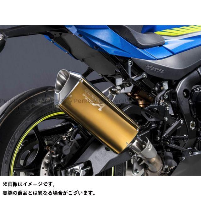 【エントリーで最大P23倍】YAMAMOTO RACING GSX-R1000 マフラー本体 17~GSX-R1000R SLIP-ON TYPE-SA ゴールド ヤマモトレーシング