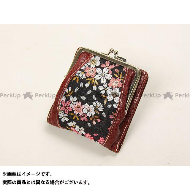 デグナー 財布 【特価品】 花山 W-72K がま口ウォレット(京桜/小豆) DEGNER