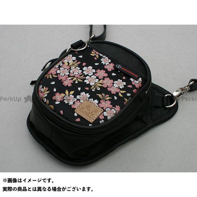 デグナー ツーリング用バッグ 花山 5S-W2K チョークバッグ(京桜/ブラック) DEGNER