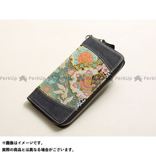 デグナー 財布 【特価品】 花山 W-68K ロングZIPウォレット(都桜/濃紺) DEGNER