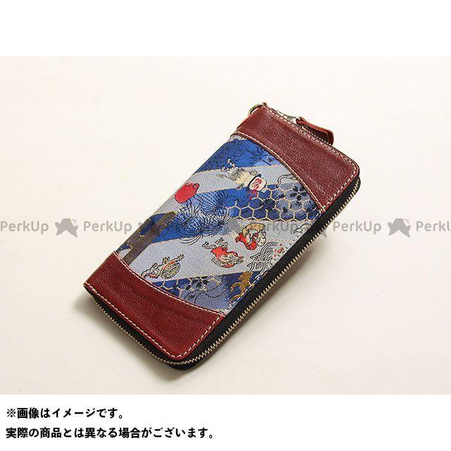 デグナー 財布 【特価品】 花山 W-68K ロングZIPウォレット(百鬼夜行/小豆) DEGNER