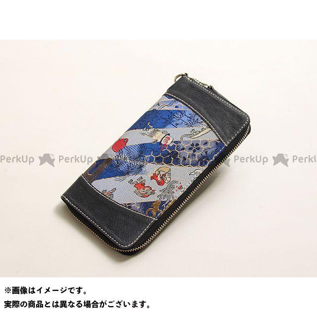 デグナー 財布 【特価品】 花山 W-68K ロングZIPウォレット(百鬼夜行/濃紺) DEGNER