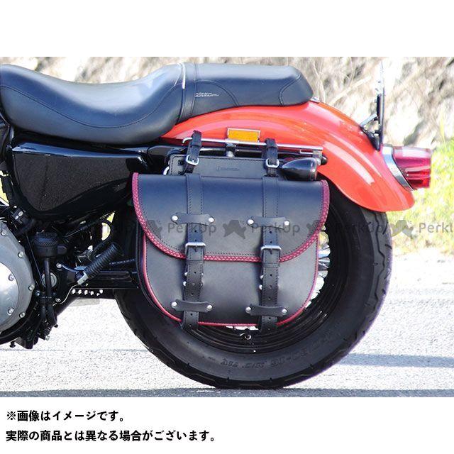 デグナー ツーリング用バッグ SB-69 レザーサドルバッグ(ブラック/レッド) DEGNER