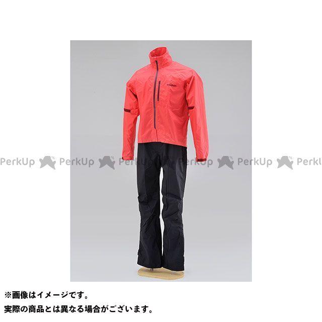 【無料雑誌付き】HenlyBegins レインウェア HR-001 マイクロレインスーツ(レッド) サイズ:L ヘンリービギンズ