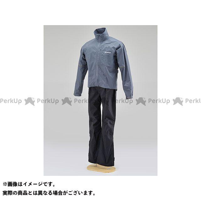 【無料雑誌付き】HenlyBegins レインウェア HR-001 マイクロレインスーツ(グレー) サイズ:XL ヘンリービギンズ