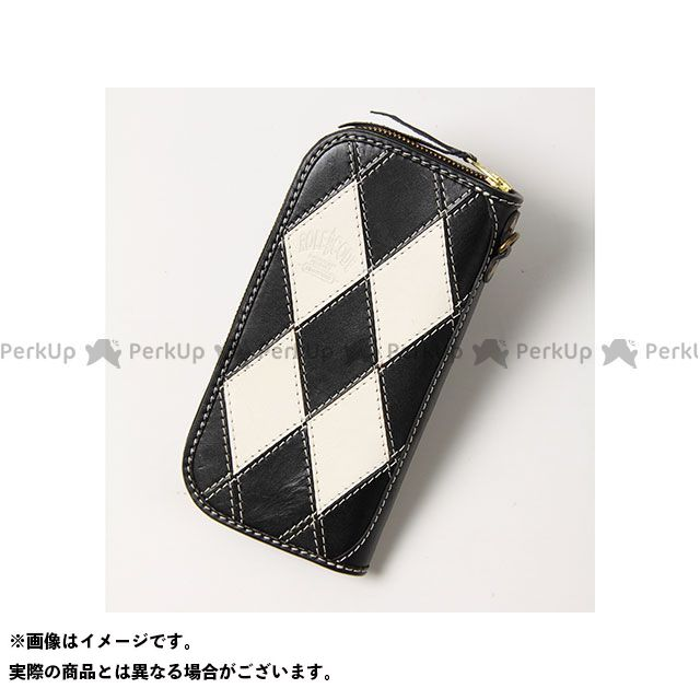 デグナー 財布 RACW-4 ダイアグラムジップウォレット(ブラック/ホワイト) DEGNER