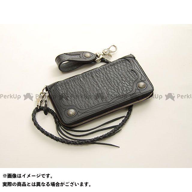 デグナー 財布 【特価品】 W-56CR クロコダイルエンボスレザージップウォレット(ブラック) DEGNER