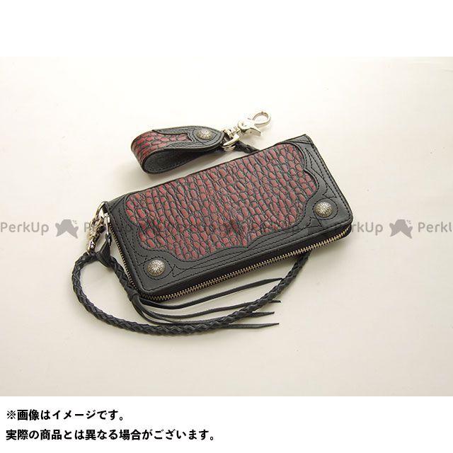 デグナー 財布 【特価品】 W-56CR クロコダイルエンボスレザージップウォレット(レッド) DEGNER