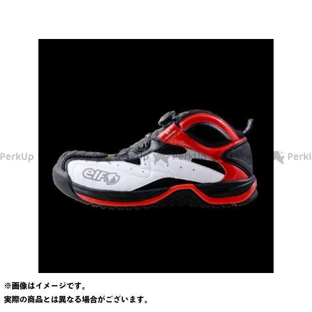 エルフシューズ メカニックシューズ ギアテック 01(ホワイト/レッド) サイズ:25.0cm elf shoes