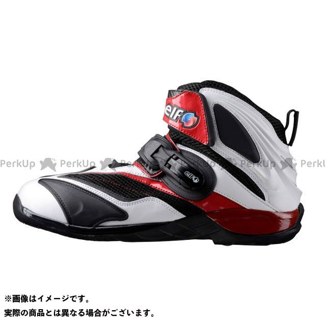 エルフシューズ ライディングシューズ ELF15 Synthese15(シンテーゼ15) カラー:ホワイト/レッド サイズ:26.0cm elf shoes