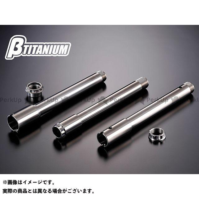 βTITANIUM ニンジャZX-14R ハブ・スポーク・シャフト リアアクスルシャフトキット 仕様:ダンデライオンイエロー(陽極酸化あり) ベータチタニウム