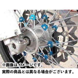 【エントリーで更にP5倍】OUTEX CRF150R ハブ・スポーク・シャフト スポークブースター フロント用 カラー:ブルーアルマイト アウテックス