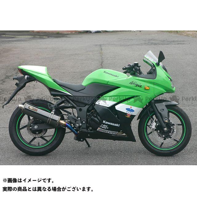NOJIMA ニンジャ250R マフラー本体 DLC-TITAN フルエキゾースト 2-1 SUS EXパイプ+Ti焼きテールパイプ ブラック(DLCコーティング) ノジマ