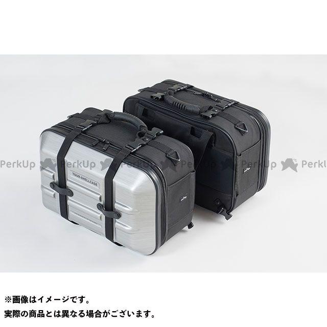 TANAX ツーリング用ボックス MOTO FIZZ ツアーシェルケース2(ヘアラインシルバー) タナックス