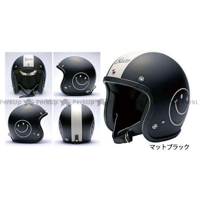 送料無料 BUCO ブコ ジェットヘルメット スマイル・ブコ(マットブラック) SM