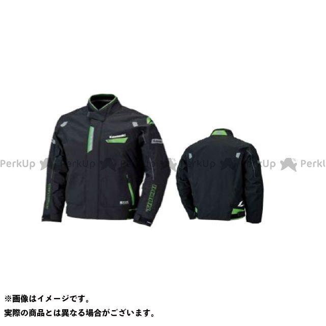 KAWASAKI ジャケット 2018春夏モデル ドライマスターアルファジャケット II(ブラック/グリーン) サイズ:LL カワサキ