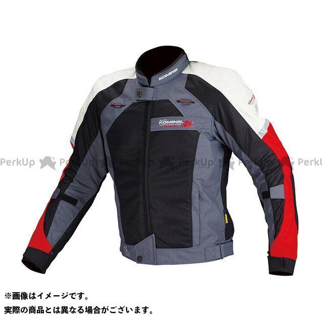 【特価品】KOMINE ジャケット JJ-002 エアストリームメッシュジャケット(ブラック/レッド) サイズ:L コミネ