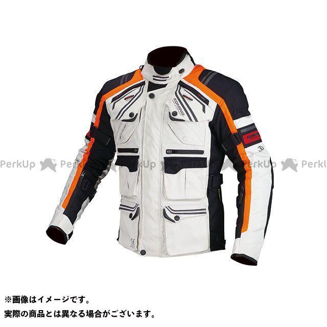 KOMINE ジャケット JK-593 プロテクトフルイヤーツーリングジャケット(ライトグレー/オレンジ) サイズ:M コミネ