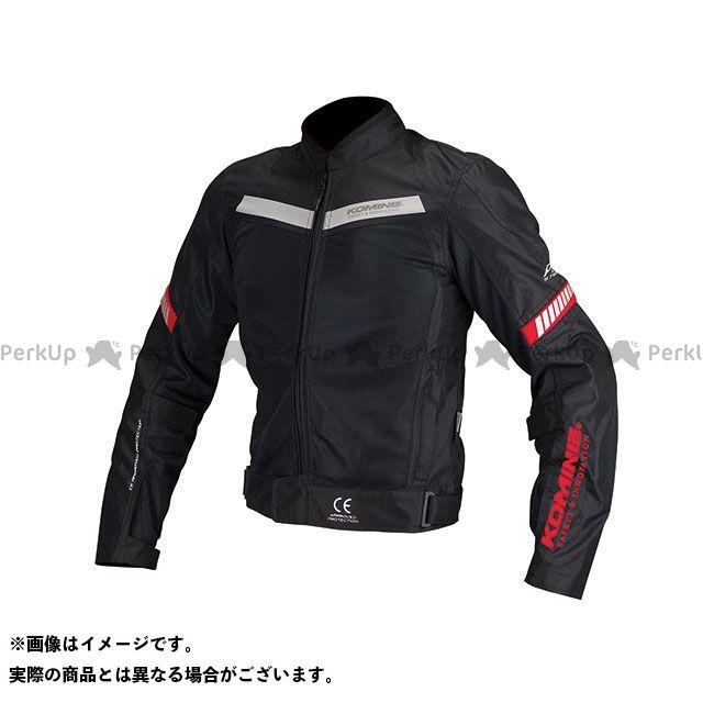 KOMINE ジャケット JK-127 プロテクトハーフメッシュジャケット(ブラック/レッド) サイズ:L コミネ