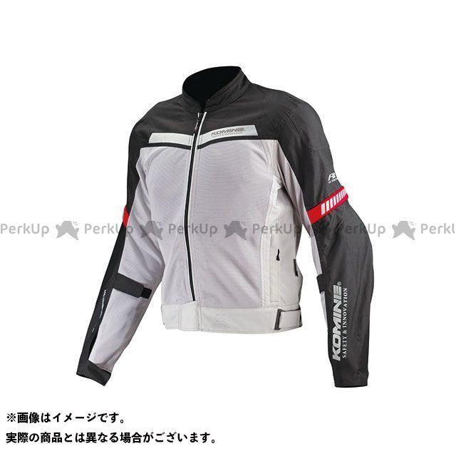 送料無料 コミネ KOMINE ジャケット JK-127 プロテクトハーフメッシュジャケット(ライトグレー/ブラック) L