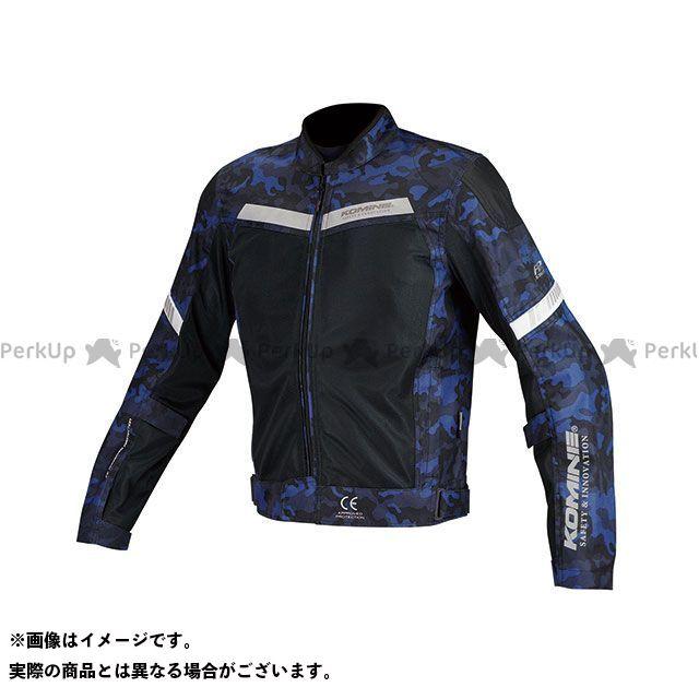 KOMINE ジャケット JK-127 プロテクトハーフメッシュジャケット(ブルーカモ/ブラック) サイズ:L コミネ