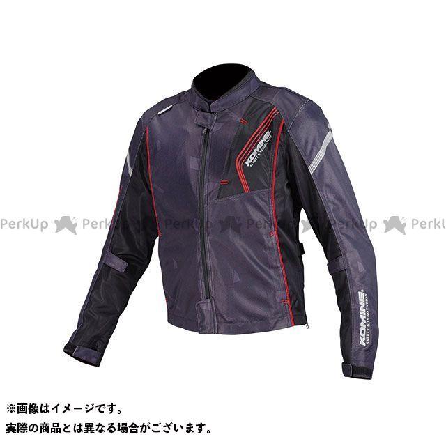 KOMINE ジャケット JK-128 プロテクトフルメッシュジャケット(ブラック/レッド) サイズ:3XL コミネ