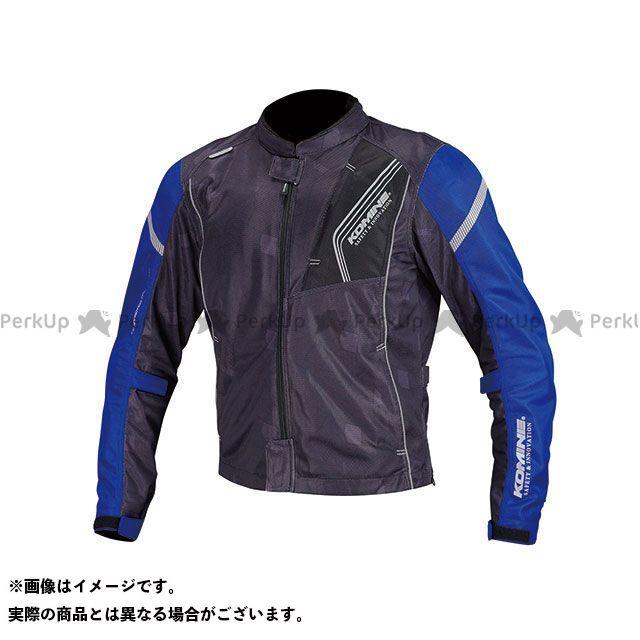 KOMINE ジャケット JK-128 プロテクトフルメッシュジャケット(ブラック/ブルー) サイズ:L コミネ