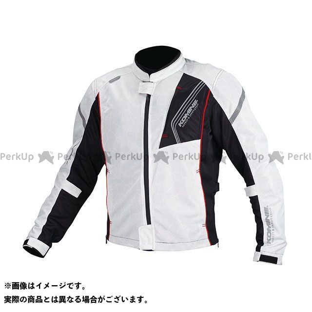 KOMINE ジャケット JK-128 プロテクトフルメッシュジャケット(シルバー/ブラック) サイズ:WL コミネ