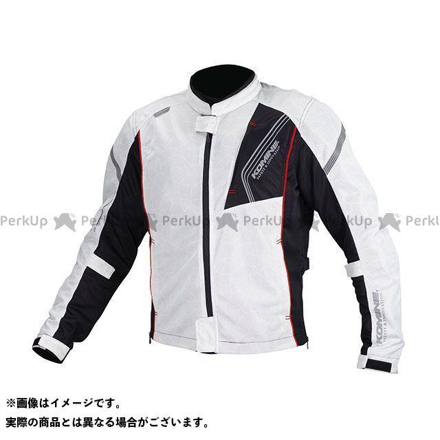 KOMINE ジャケット JK-128 プロテクトフルメッシュジャケット(シルバー/ブラック) サイズ:L コミネ