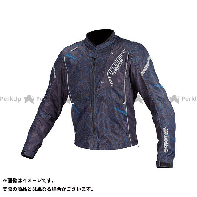 KOMINE ジャケット JK-128 プロテクトフルメッシュジャケット(クラッシュブルー/ブラック) サイズ:2XL コミネ