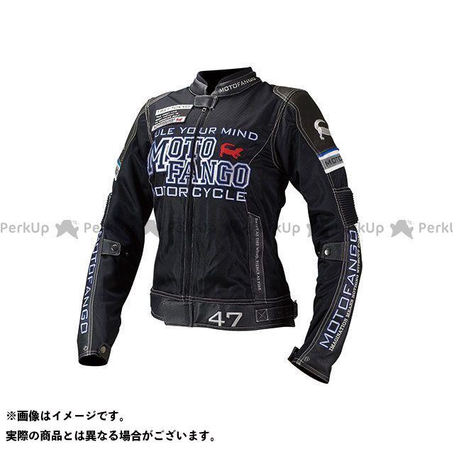 MOTOFANGO ジャケット MJ-001 ライディングレザーメッシュジャケット(ブラック) サイズ:WL モトファンゴ