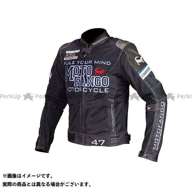 MOTOFANGO ジャケット MJ-001 ライディングレザーメッシュジャケット(ブラック) サイズ:2XL モトファンゴ